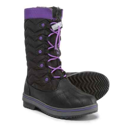Northside Keltie Snow Boots - Insulated (For Girls) in Black/Purple - Closeouts