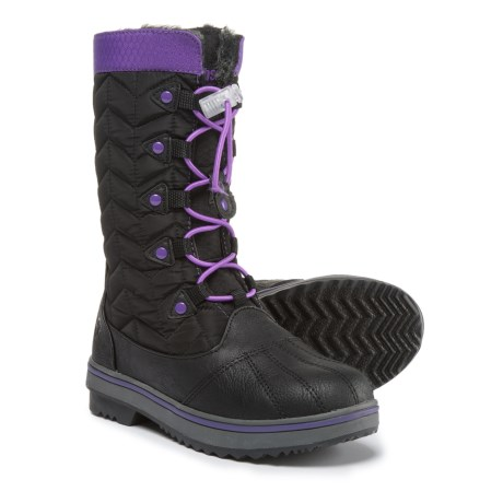 Northside Keltie Snow Boots - Insulated (For Girls) in Black/Purple