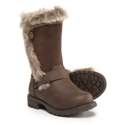 Northside Kenna Winter Boots - Vegan Leather (For Infant and Toddler Girls) in Brown - Closeouts