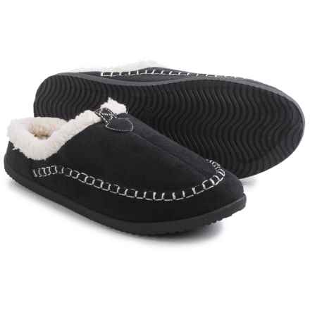 Northside Kestrel Slippers - Faux Suede (For Women) in Black - Closeouts