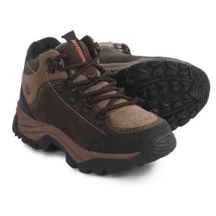 Northside Lassen Mid Hiking Boots - Suede (For Little and Big Boys) in Brown/Orange - Closeouts