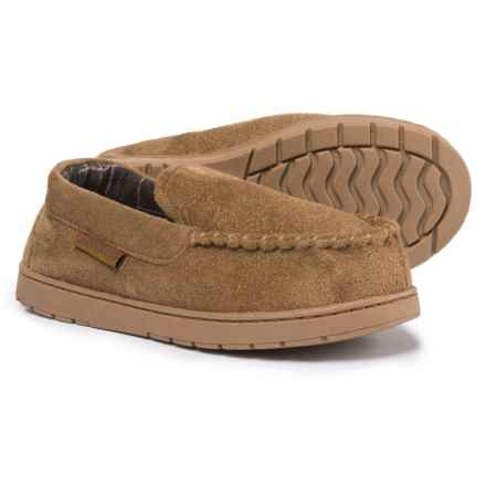 Northside Mason Moccasin Slippers (For Little and Big Boys) in Brown/Dark Brown - Closeouts