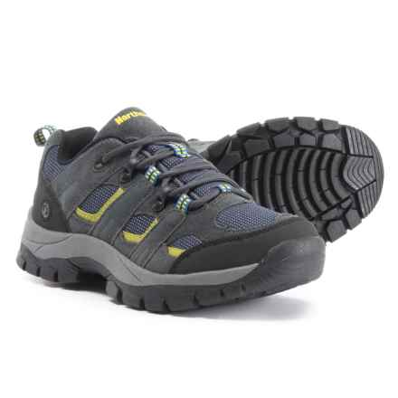 Northside Monroe Jr. Low Hiking Shoes (For Little and Big Boys) in Blue/Lime - Closeouts