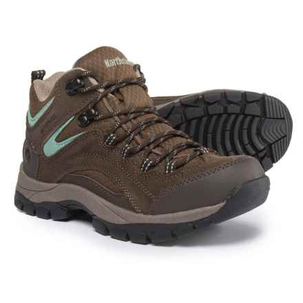 Northside Pioneer Hiking Boots - Waterproof, Suede (For Women) in Dark Brown/Sage - Closeouts