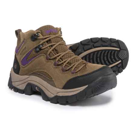 Northside Pioneer Hiking Boots - Waterproof, Suede (For Women) in Stone/Purple - Closeouts