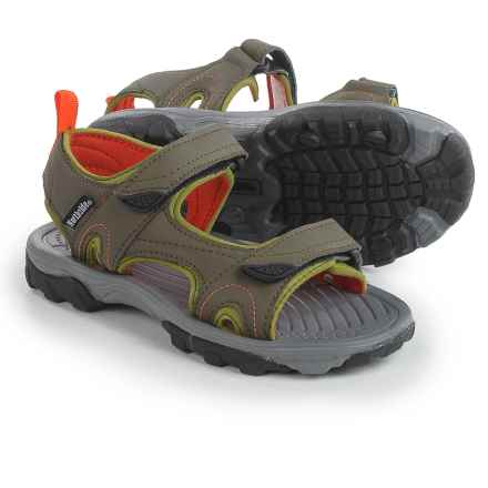 Northside Powell Sport Sandals (For Big Kids) in Olive/Orange - Closeouts