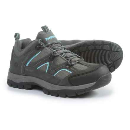 Northside Snohomish Low Hiking Shoes - Waterproof (For Women) in Gray/Aqua - Closeouts