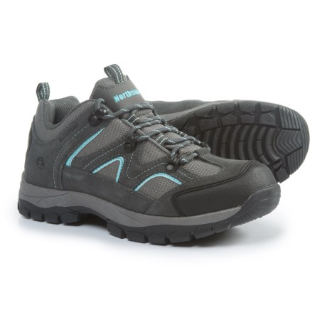 Northside Snohomish Low Hiking Shoes - Waterproof (For Women) in Gray/Aqua