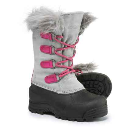 Northside Snow Drop II Pac Boots - Waterproof, Insulated (For Little and Big Girls) in Gray/Pink - Closeouts