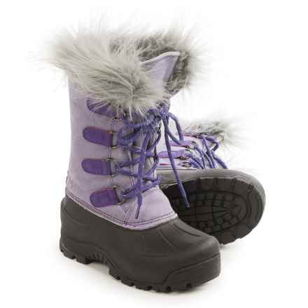 Northside Snow Drop II Snow Boots - Waterproof, Insulated (For Little and Big Girls) in Lilac Gray - Closeouts