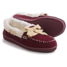 Northside Stella Moccasin Slippers - Faux Suede (For Women) in Burgundy - Closeouts