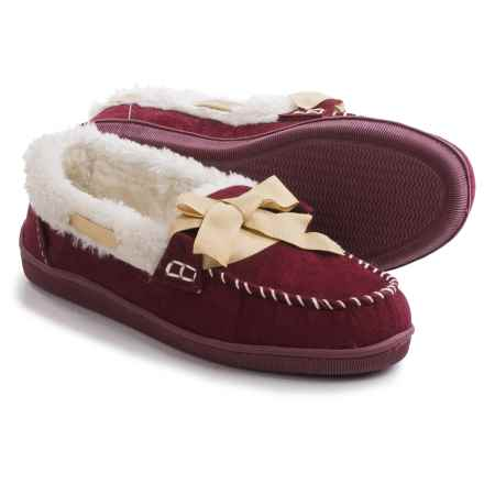 Northside Stella Moccasins - Faux Suede (For Women) in Burgundy - Closeouts