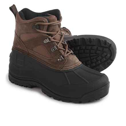 Northside Tundra Pac Boots - Waterproof, Insulated, Suede (For Men) in Bark - Closeouts