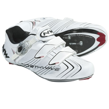 Northwave Evolution S.B.S. Road Cycling Shoes - 3-Hole (For Men) in White/Black