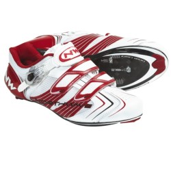 Northwave Evolution S.B.S. Road Cycling Shoes - 3-Hole (For Men) in White/Red