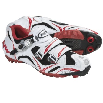 Northwave Razer S.B.S. Mountain Bike Shoes (For Men) in White/Red/Black