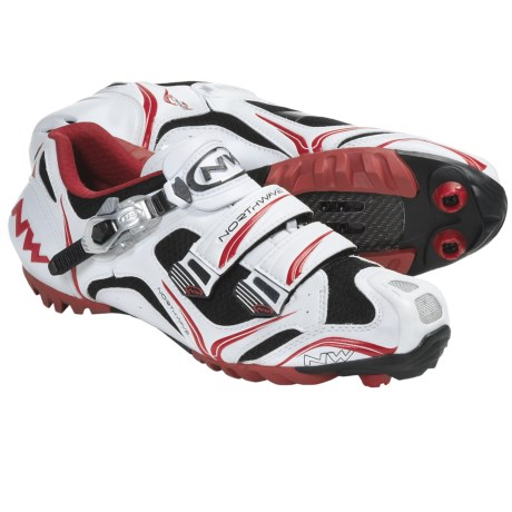 Northwave Razer S.B.S. Mountain Bike Shoes - SPD (For Men) in White/Red/Black