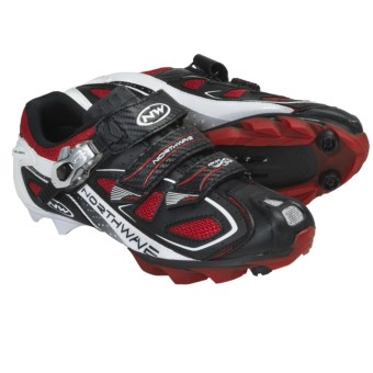 Northwave Rebel S.B.S. Mountain Bike Shoes (For Men) in Black/Red/White