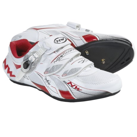 Northwave Venus S.B.S. Road Cycling Shoes - 3-Hole (For Women) in White/Red