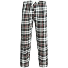 Northwest Blue Flannel Lounge Pants (For Men) in Black - 2nds