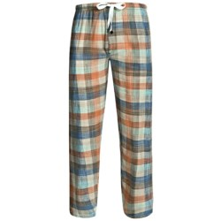 Northwest Blue Flannel Lounge Pants (For Men) in Red