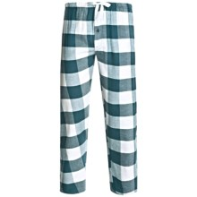 Northwest Blue Flannel Lounge Pants (For Men) in Turquoise - 2nds