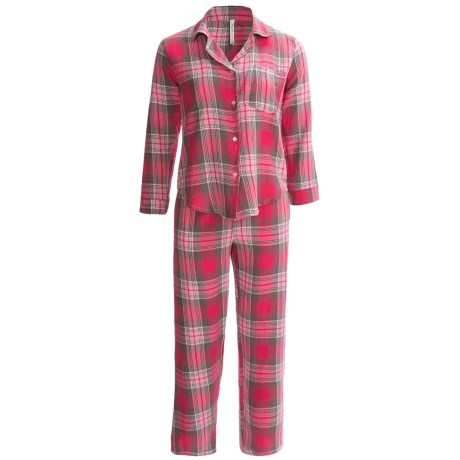 Northwest Blue Flannel Pajamas - Lightweight, Long Sleeve (For Women) in Green