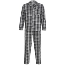 Northwest Blue Flannel Pajamas - Long Sleeve (For Men) in Black - 2nds