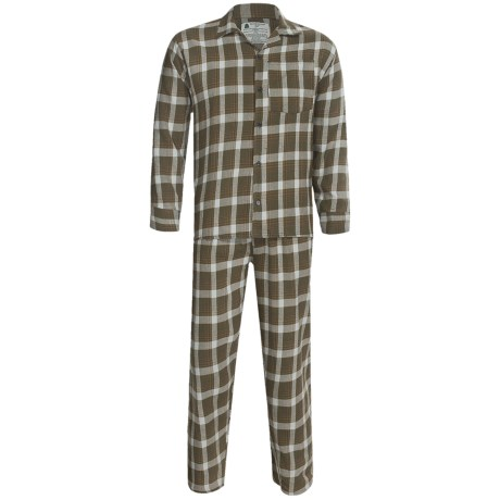 Northwest Blue Flannel Pajamas - Long Sleeve (For Men) in Green