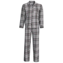 Northwest Blue Flannel Pajamas - Long Sleeve (For Men) in Grey - 2nds