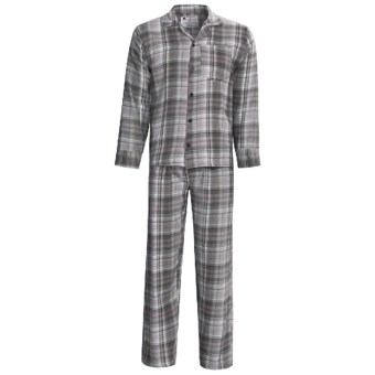 Northwest Blue Flannel Pajamas - Long Sleeve (For Men) in Grey