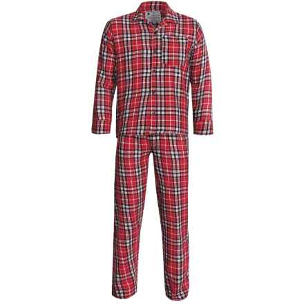 Northwest Blue Flannel Pajamas - Long Sleeve (For Men) in Red - 2nds