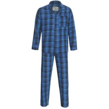 Northwest Blue Flannel Pajamas - Long Sleeve (For Men) in Turquoise - 2nds