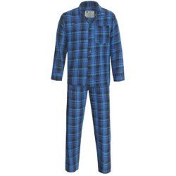 Northwest Blue Flannel Pajamas - Long Sleeve (For Men) in Turquoise
