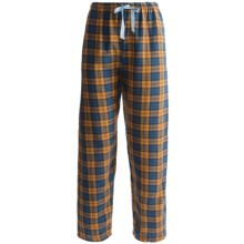 Northwest Blue Plaid Lounge Pants - Flannel (For Women) in Orange - Closeouts