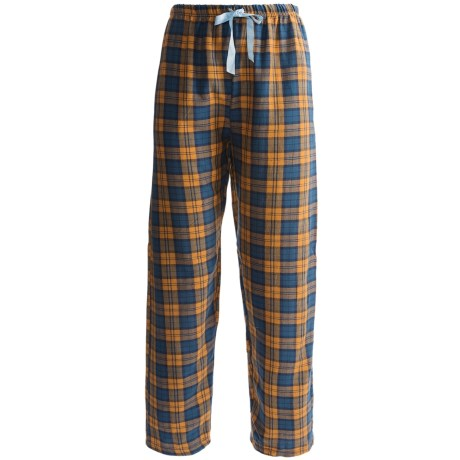 Northwest Blue Plaid Lounge Pants - Flannel (For Women) in Orange