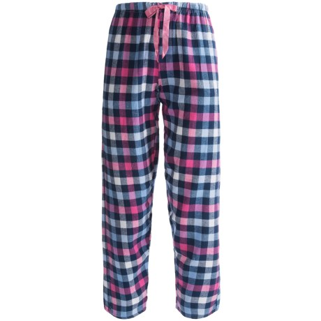 Northwest Blue Plaid Lounge Pants - Flannel (For Women) in Pink