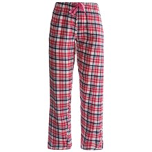 Northwest Blue Plaid Lounge Pants - Flannel (For Women) in Red - Closeouts