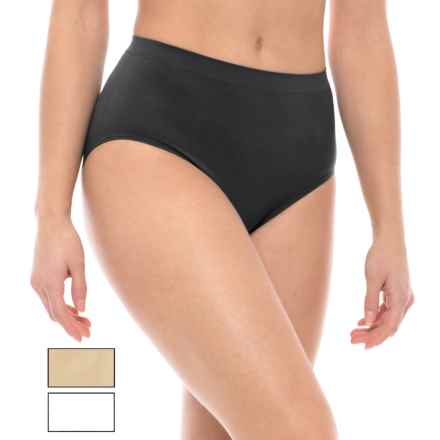 Nouvelle Premium Seamless High-Waisted Panties - Briefs, 3-Pack (For Women) in Black/White/Nude - Closeouts
