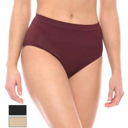 Nouvelle Premium Seamless Panties - Brief, 3-Pack (For Women) in Zinfandel/Nude/Black - Closeouts