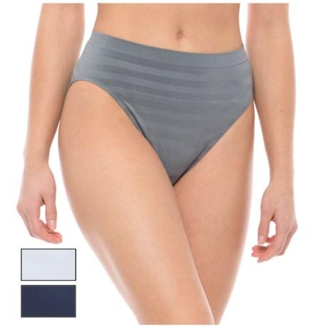 Nouvelle Seamless Panties - High-Cut, 3-Pack (For Women) in Spring Fog Shadow/White/Dark Denim