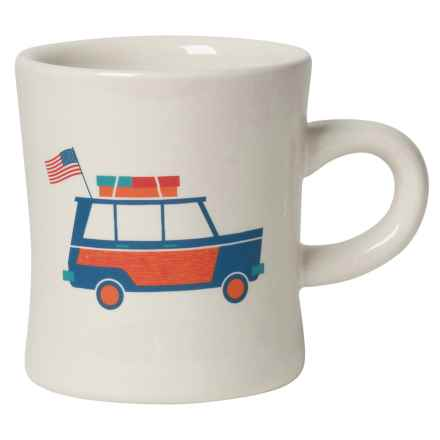 Now Designs American Road Trip Stoneware Mug in White - Closeouts