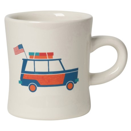 Now Designs American Road Trip Stoneware Mug in White