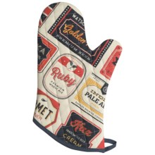 Now Designs Basic Oven Mitt in Beer Labels - Closeouts