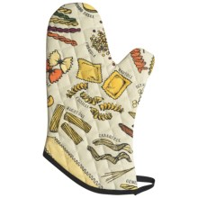 Now Designs Basic Oven Mitt in Know Your Pasta - Closeouts