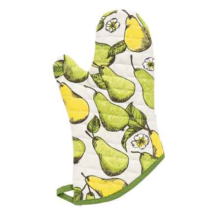 Now Designs Basic Oven Mitt in Plentiful Pears - Closeouts