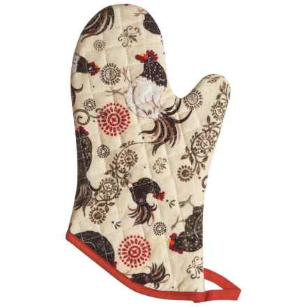 Now Designs Basic Oven Mitt in Rustic Rooster - Closeouts