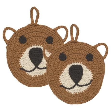 Now Designs Boris Bear Dishcloths - Set of 2 in See Photo