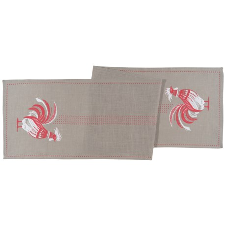 Now Designs Burlap Rooster Table Runner in Roost