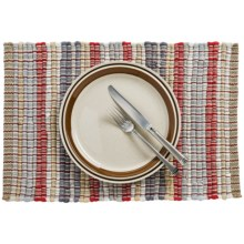 Now Designs Chindi Placemat in Red/Gray - Closeouts